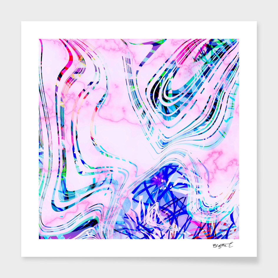 Colorful Fun and Vibrant Marble Summer Pattern