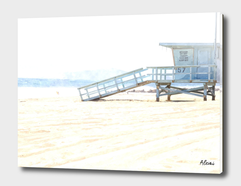 Lifeguard Tower Illustration