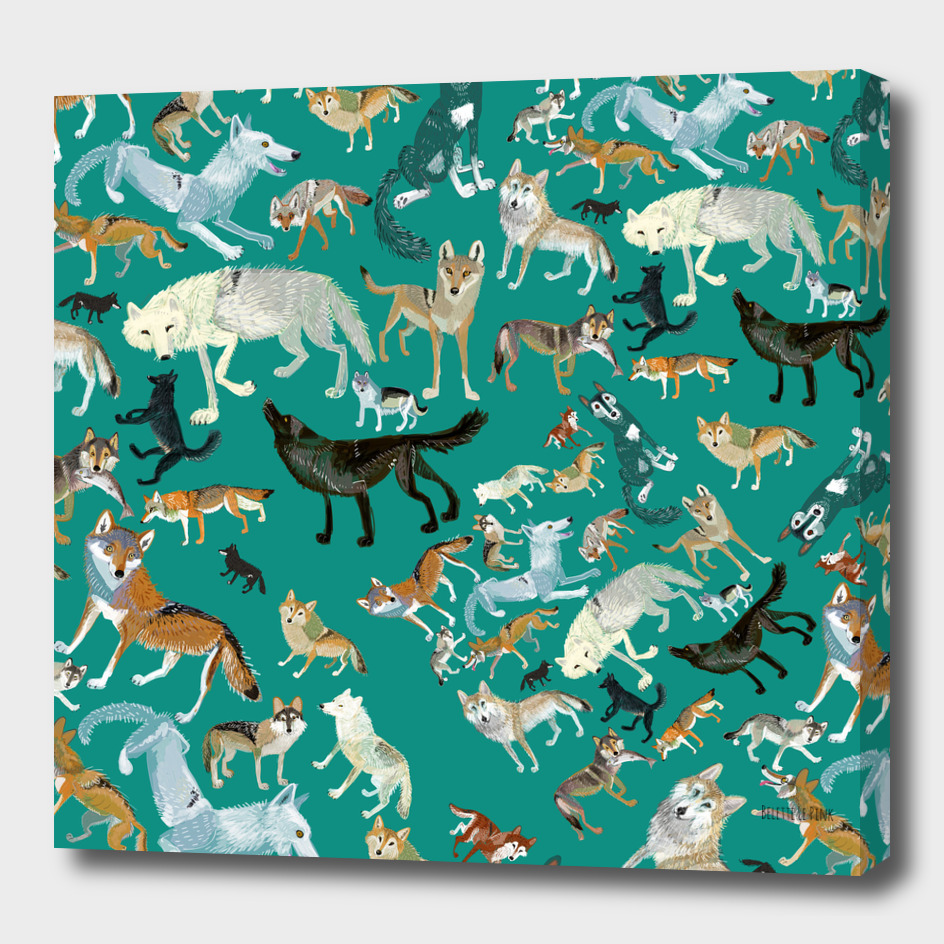 Wolves of the World (Green pattern)