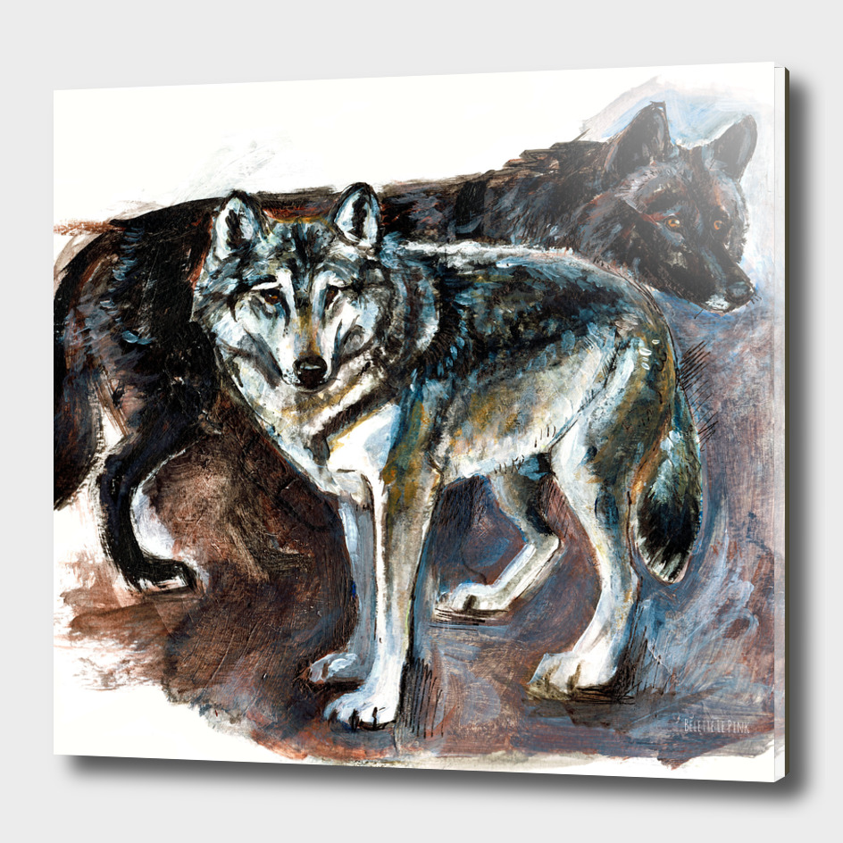 Totem Canadian Wolf Realistic
