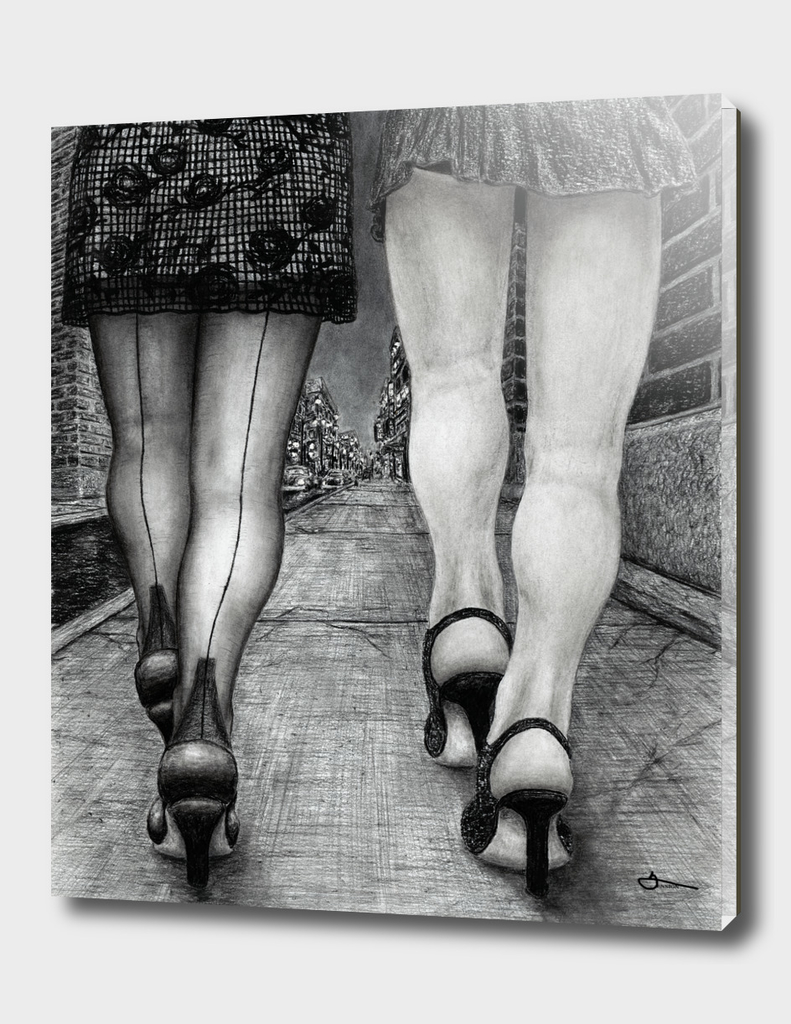 Untitled - charcoal drawing