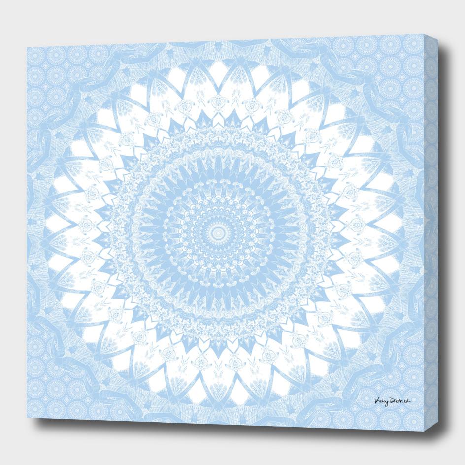 Baby Blue Boho Mandala