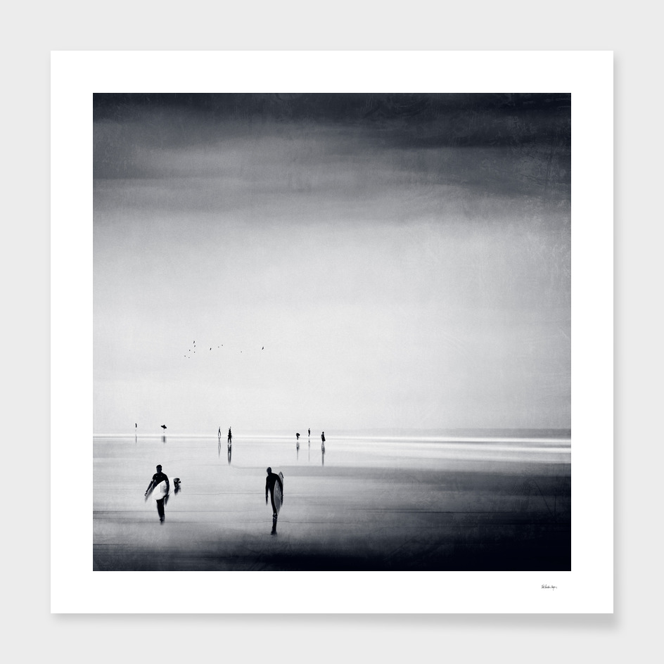 strangers on a beach