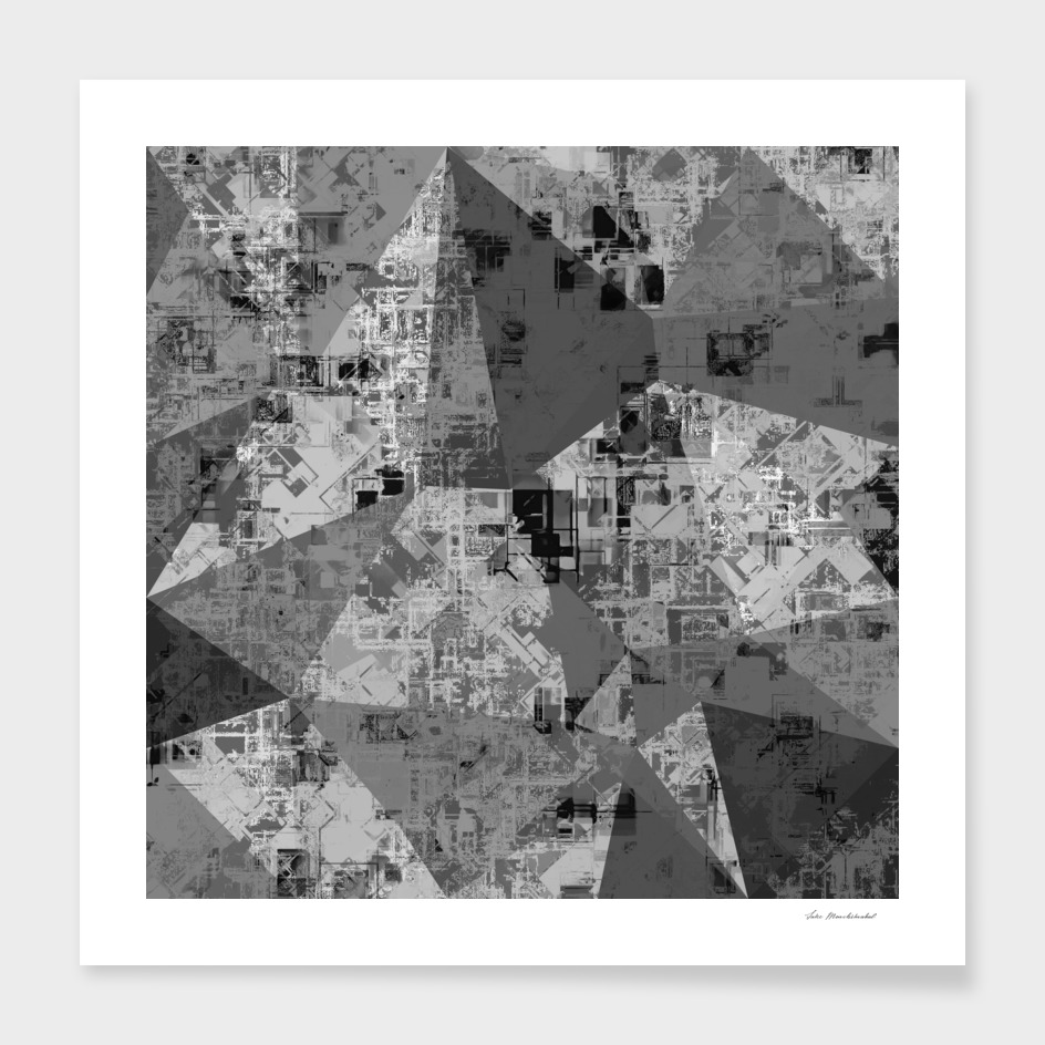 geometric triangle pattern abstract in black and white