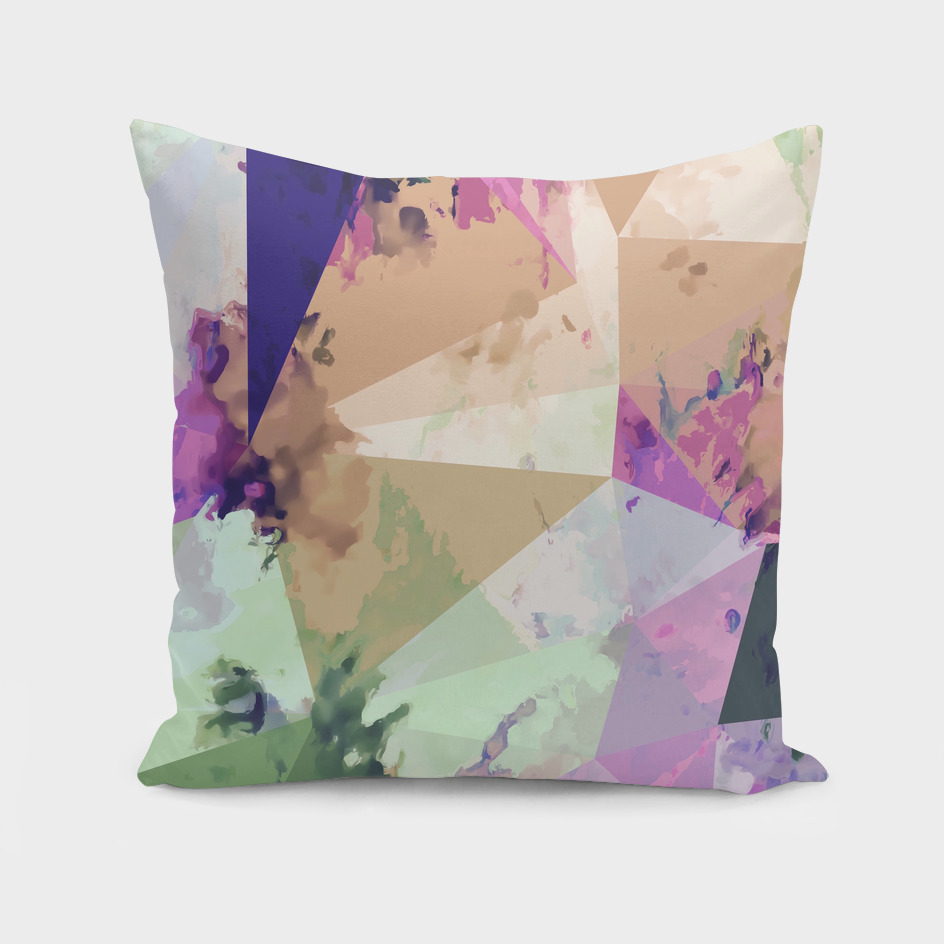 geometric triangle polygon pattern abstract in pink brown