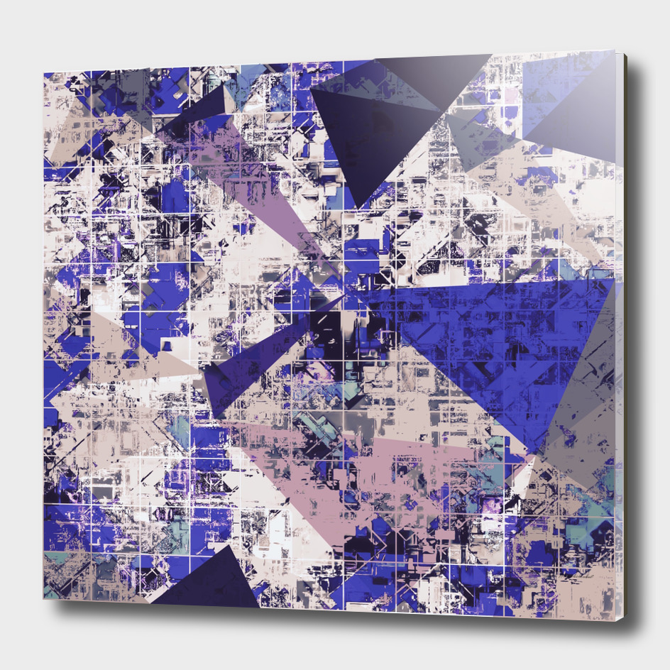 geometric triangle polygon pattern abstract in blue black