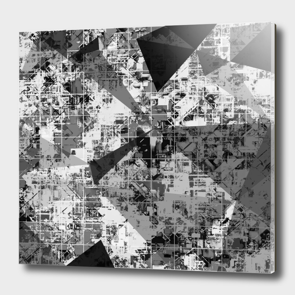 geometric square and triangle pattern abstract