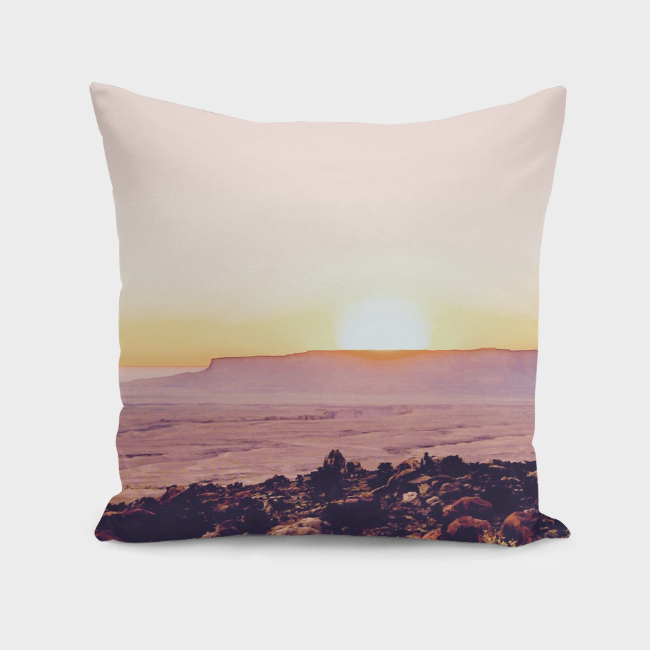 summer sunset in the desert