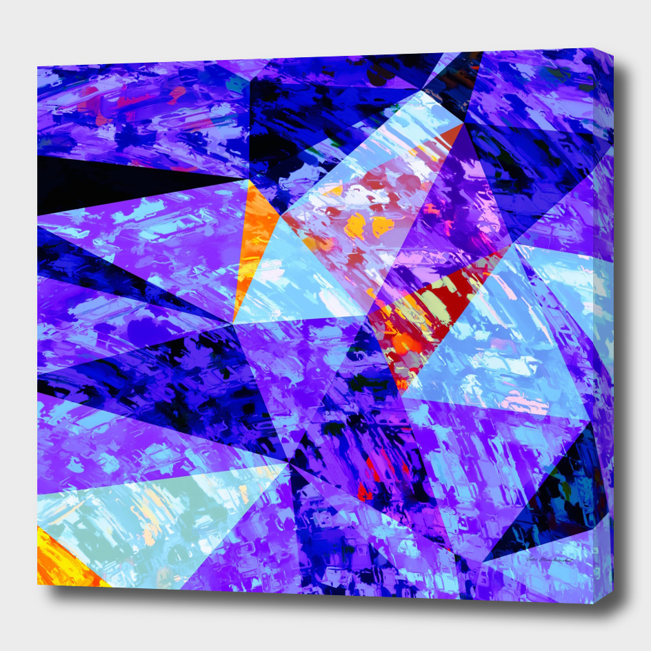 geometric triangle polygon pattern abstract in purple blue