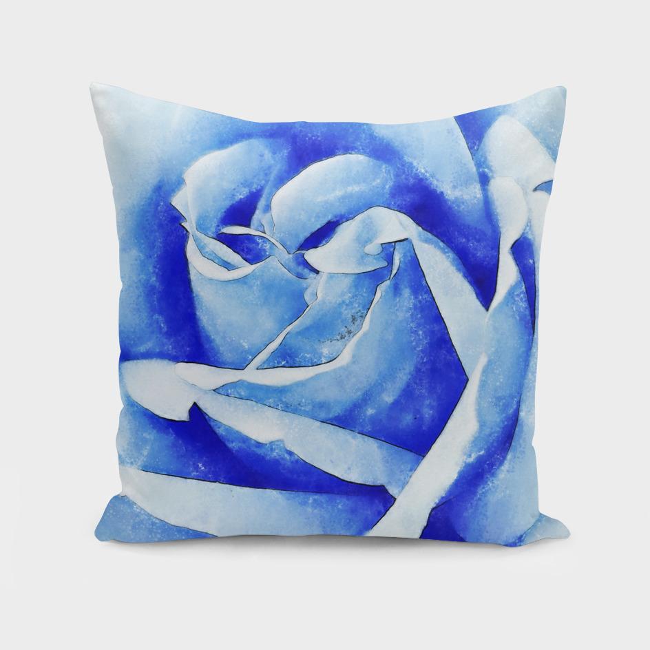 Closeup Blue Rose Fine Art
