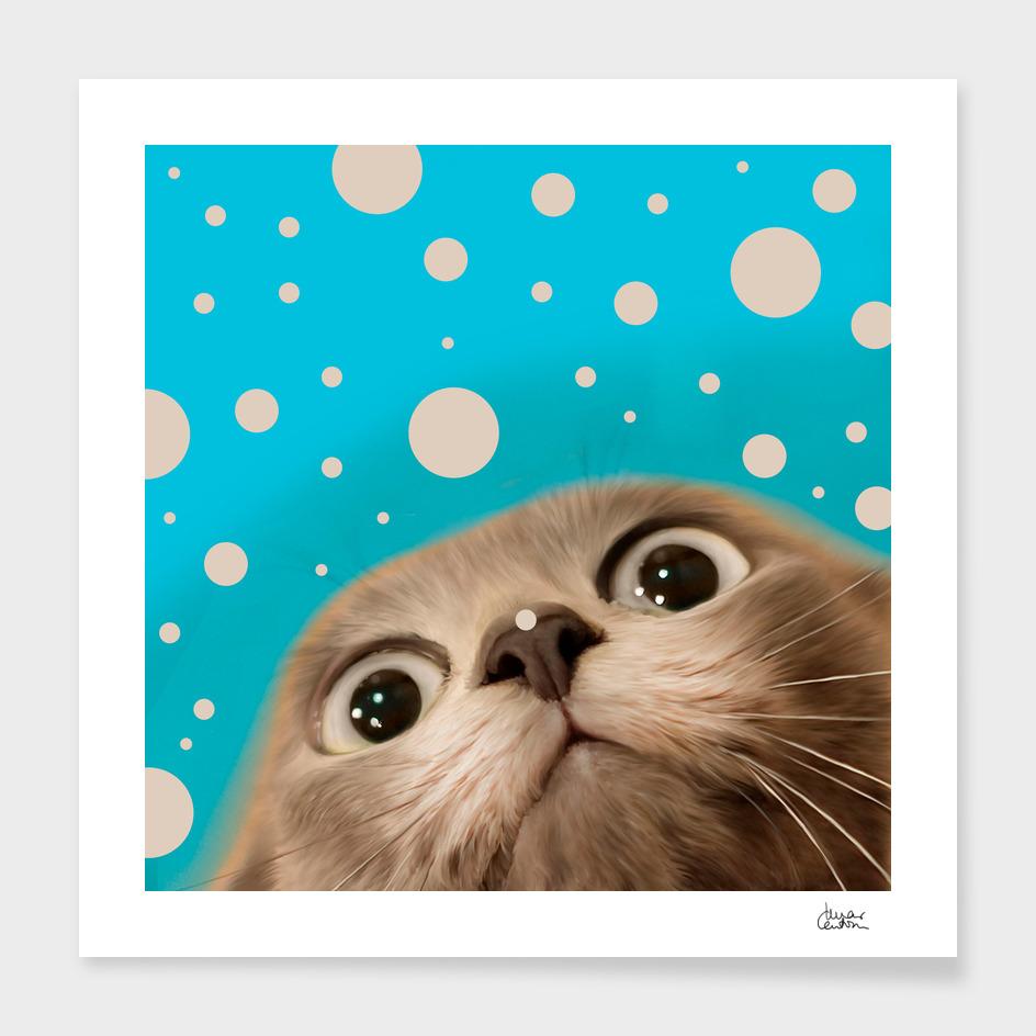 """Fun Kitty and Polka dots"""