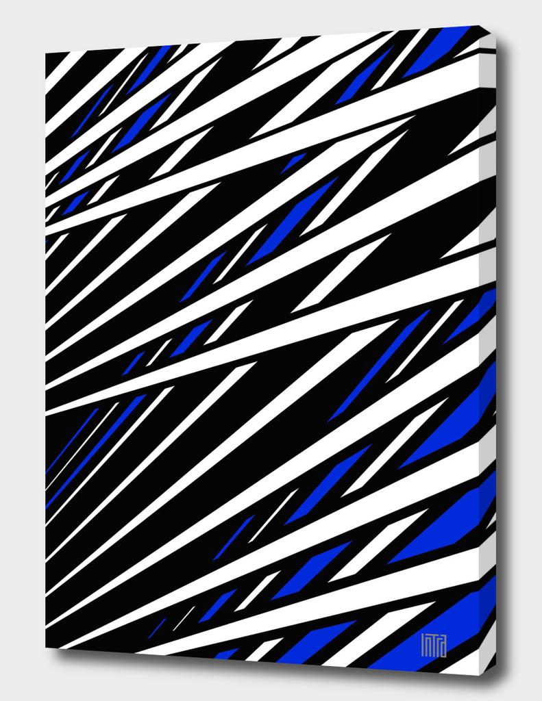Blue Black White
