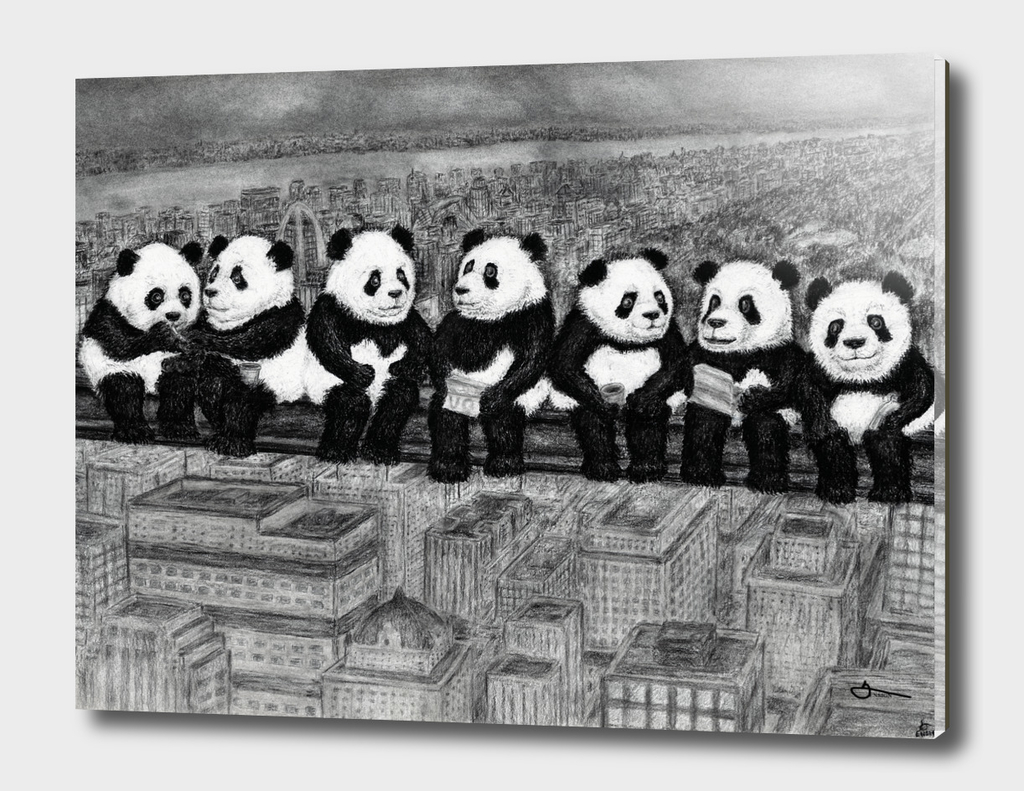 Panda Lunch Atop a Skyscraper