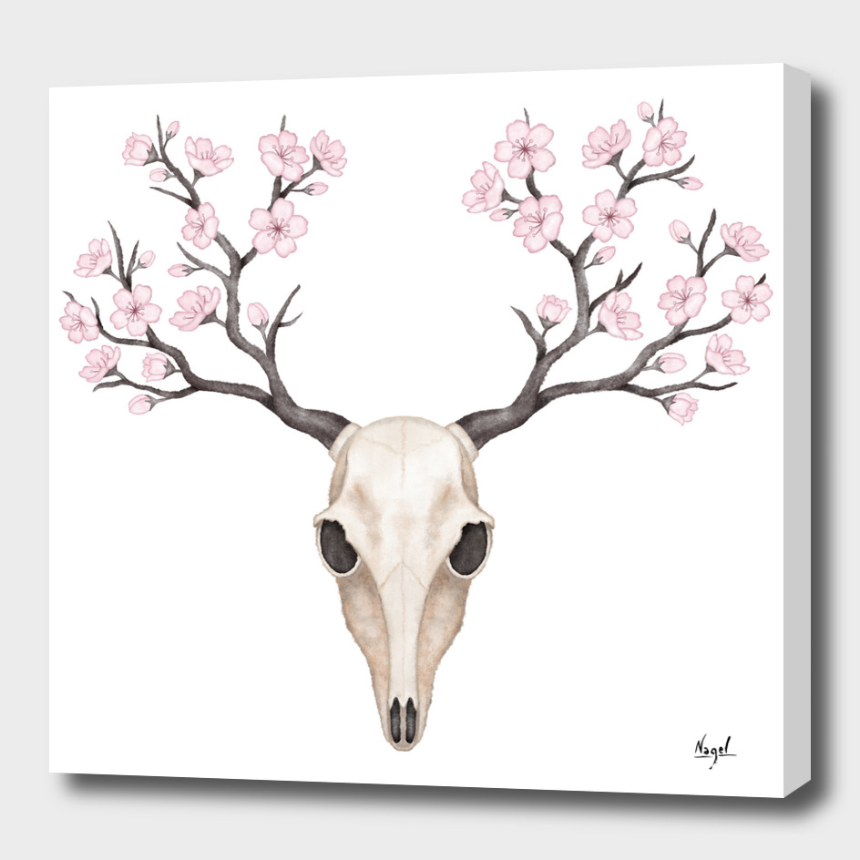 Blooming deer skull