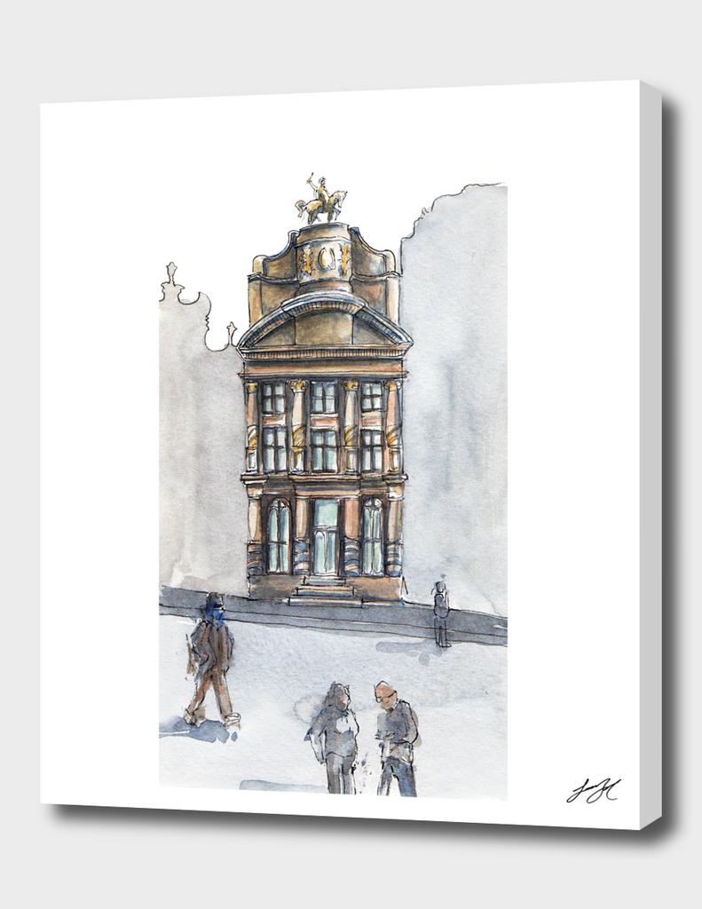 Watercolor Bruselas