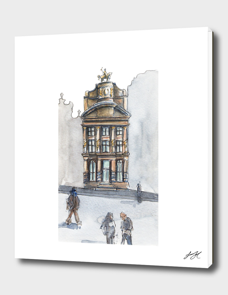 Watercolor Bruselas