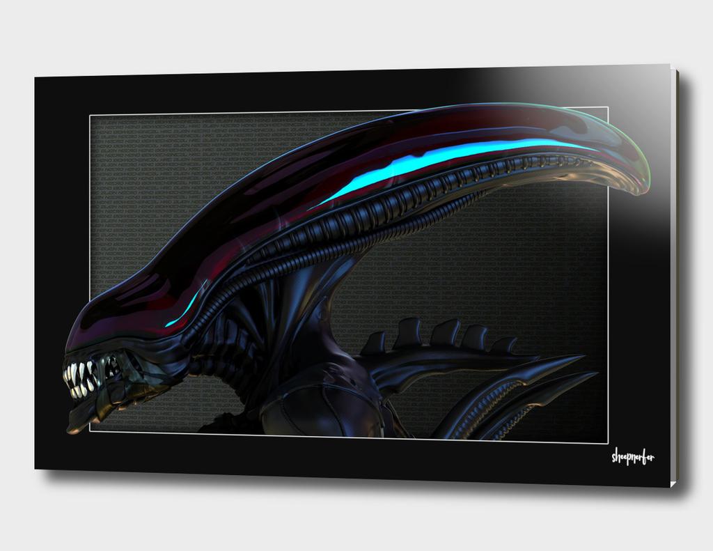 Alien Concept Bust - Ruby