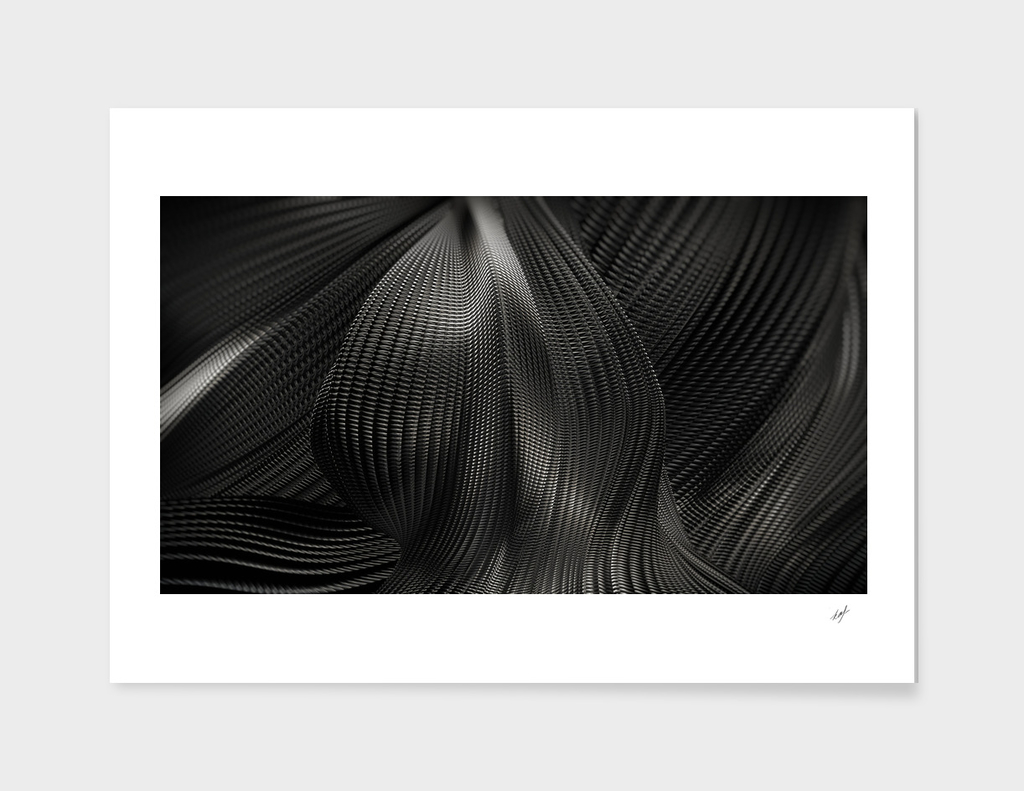Black Steel Abstraction