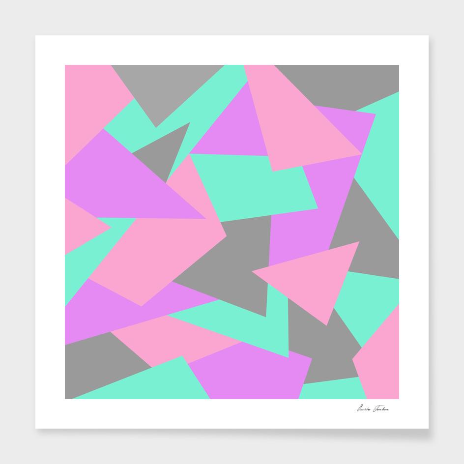 Bright and colorful geometric design