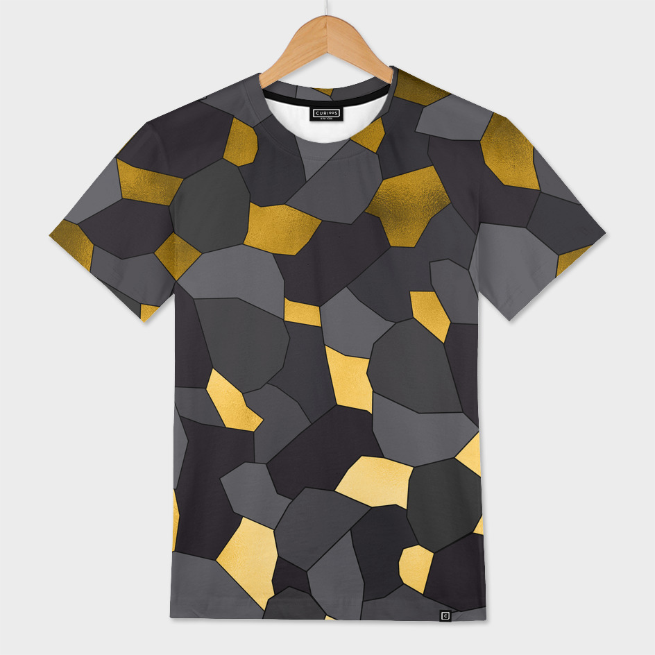 Gold grey and black mosaic