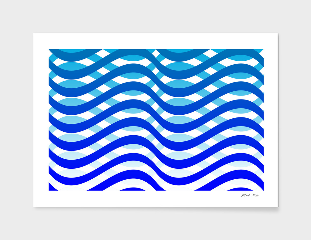 Waving Blue Pattern