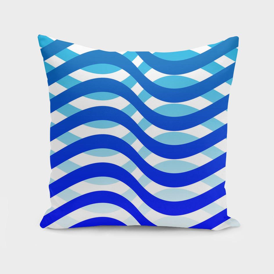 Waving Blue Pattern