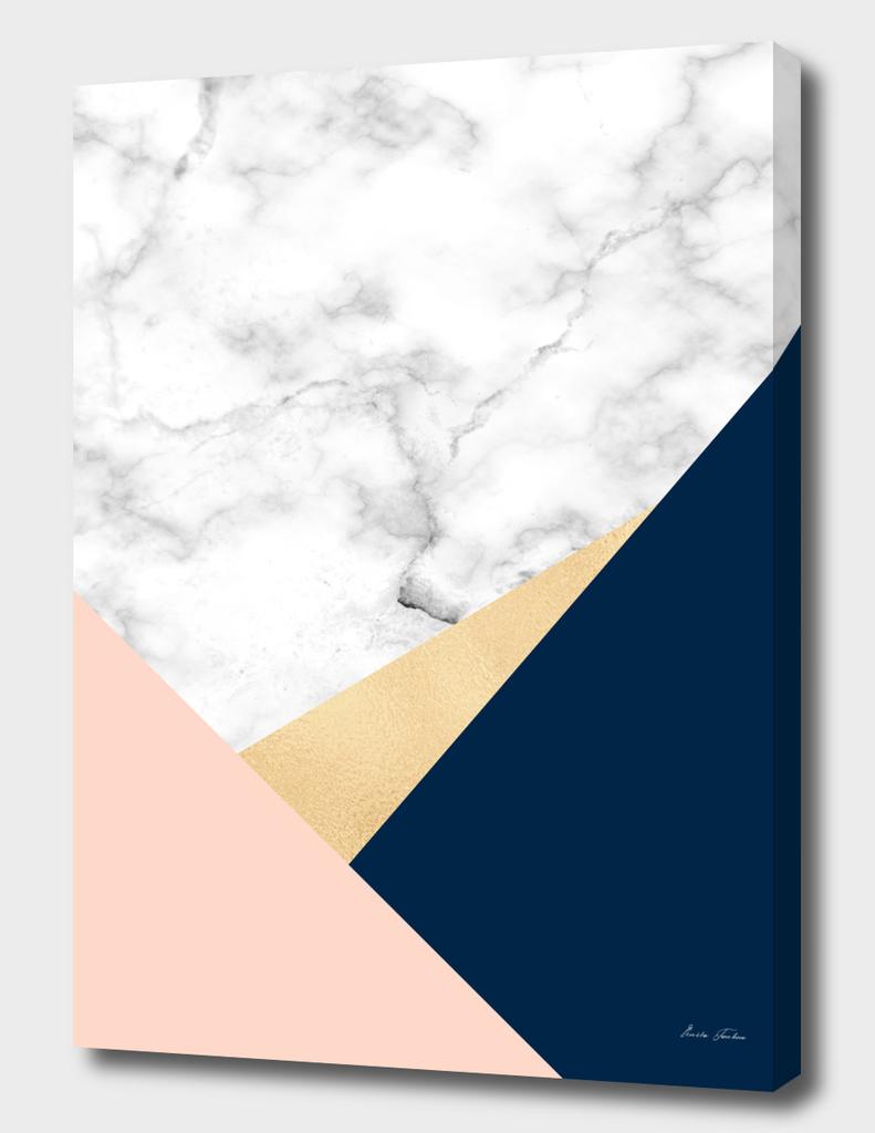 Geometric marble look