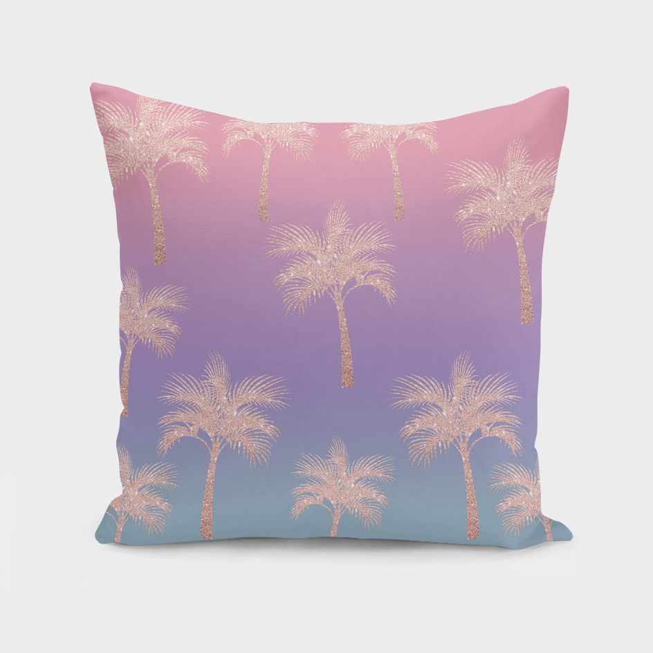 Colorful palm pattern