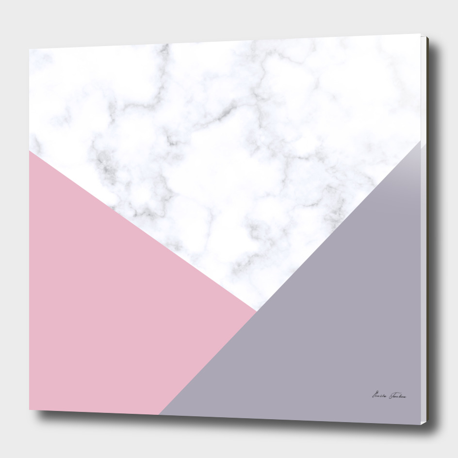Geometric marble and pastel color