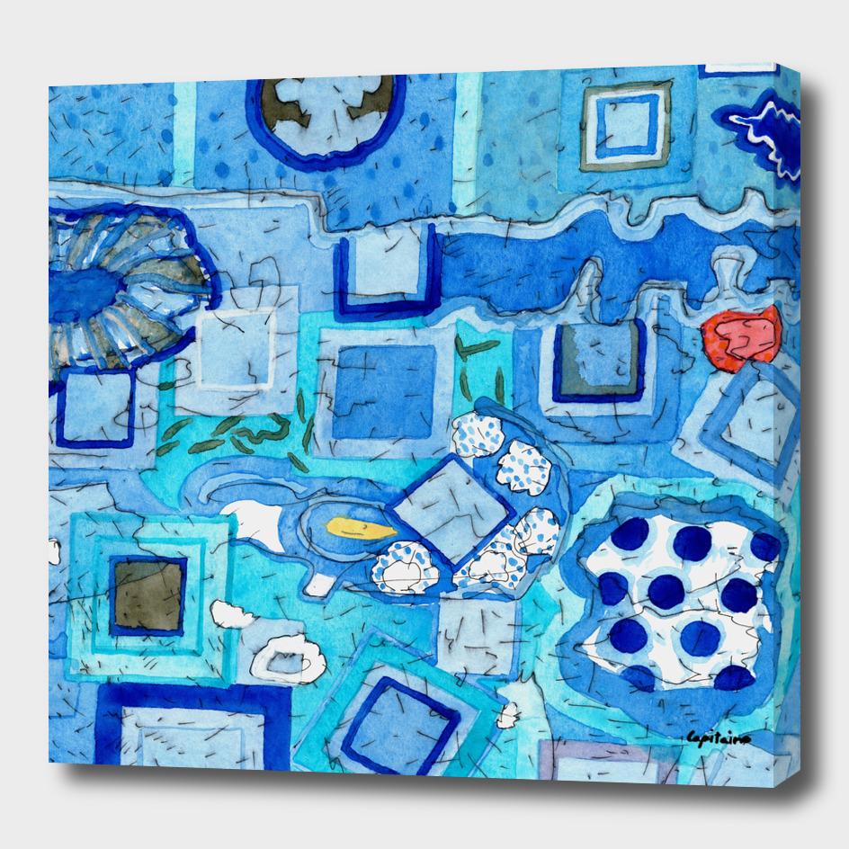 Blue Room with Blue Frames