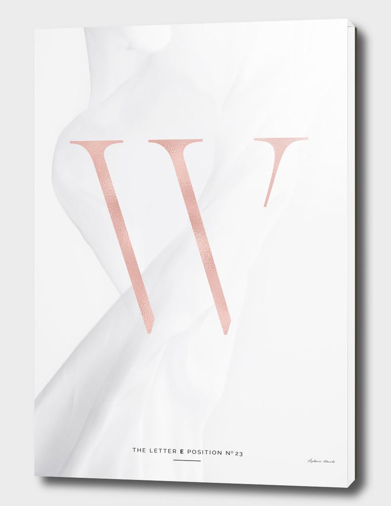 W | ROSEGOLD LETTER