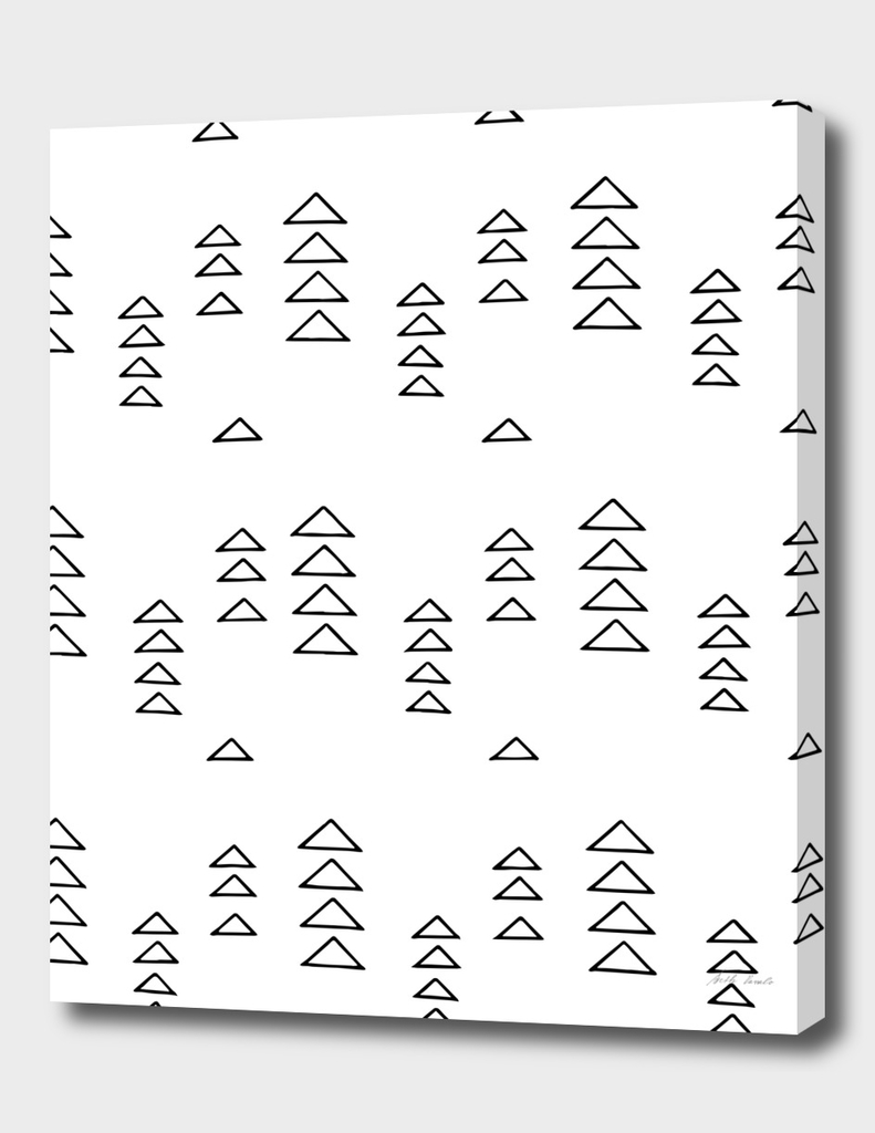 Minimalist Triangles in Black and White