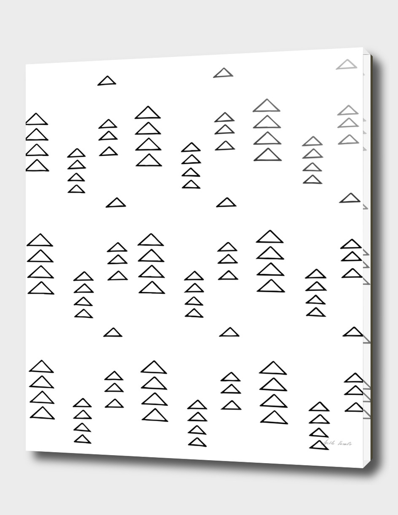 Minimalist Triangles in Black and White