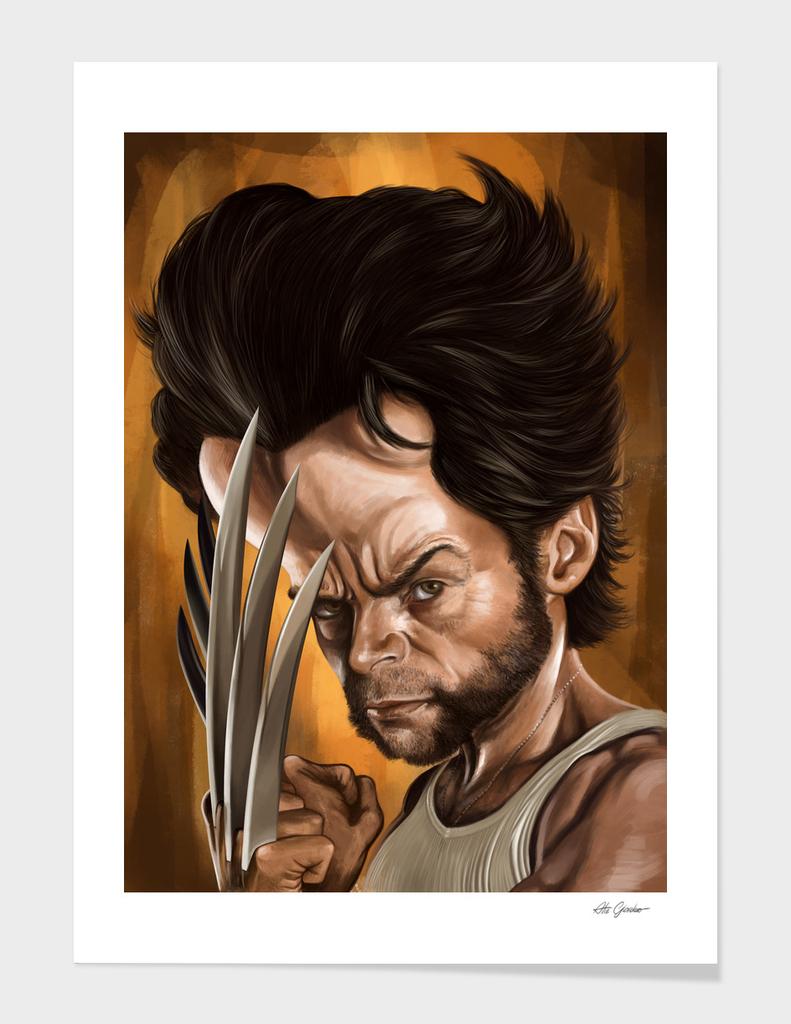 "Hugh Jackman ""Wolverine"" caricature"