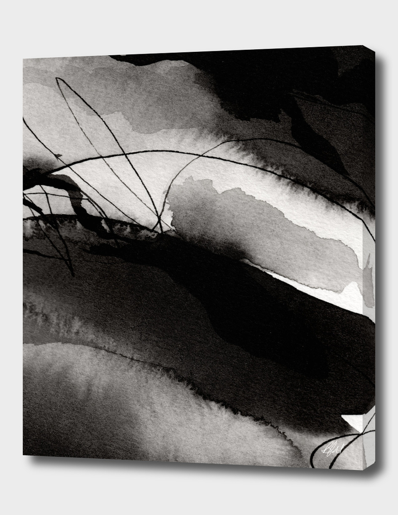 Ink Noir - Black Abstract Ink Painting