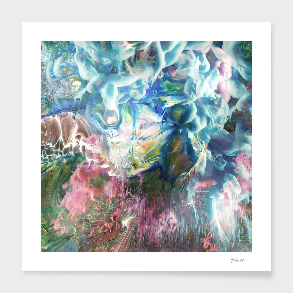 fluid colour abstract