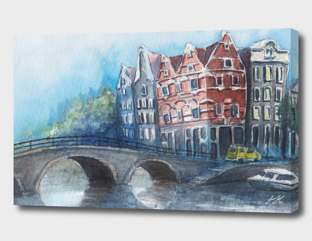 Watercolor Amsterdam