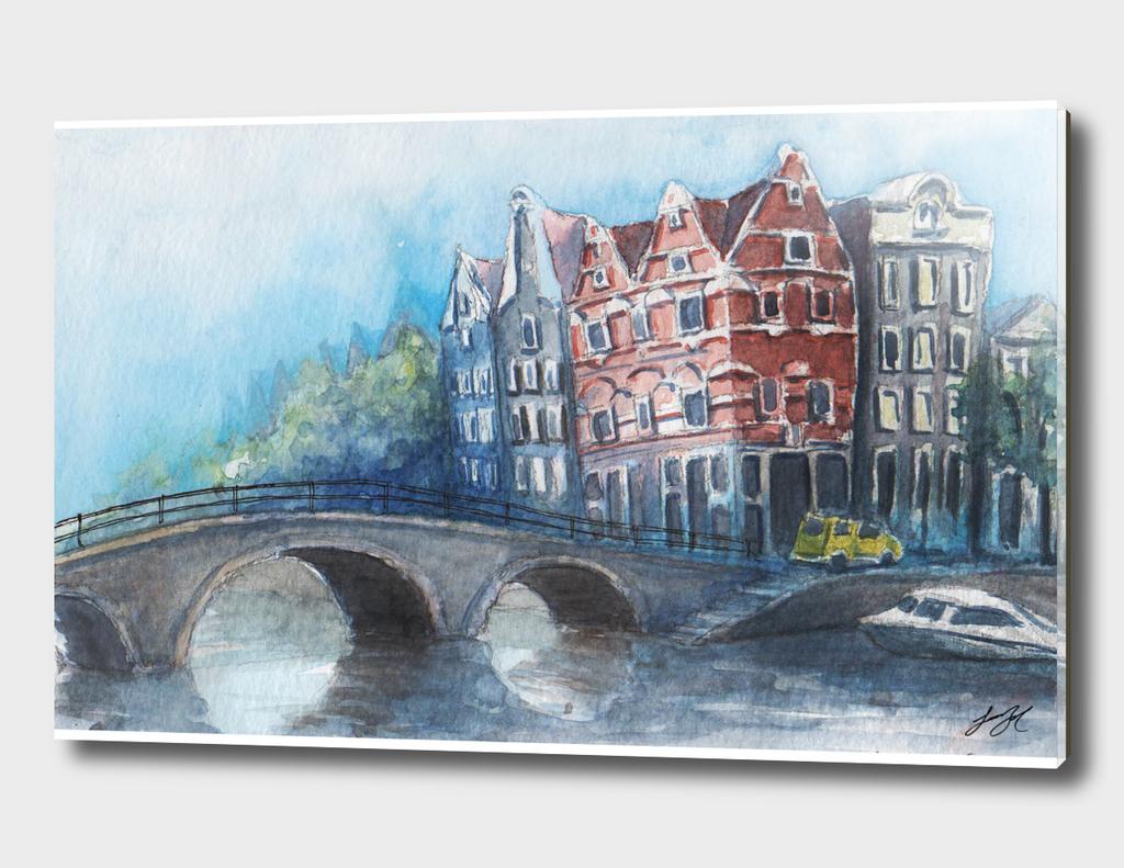 Watercolor Amsterdam
