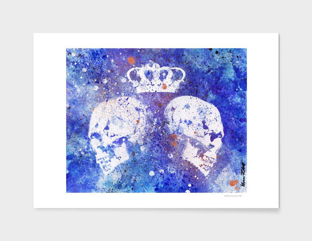 Queendom (crown & skulls graffiti dark painting)