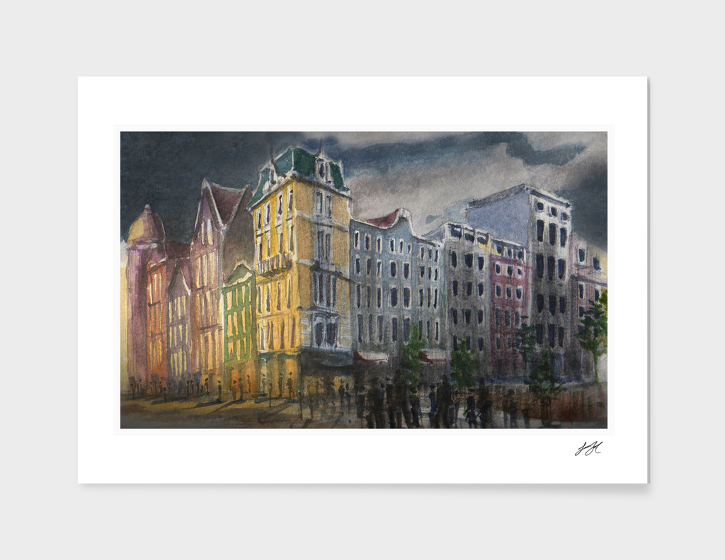Watercolor Amsterdam 02