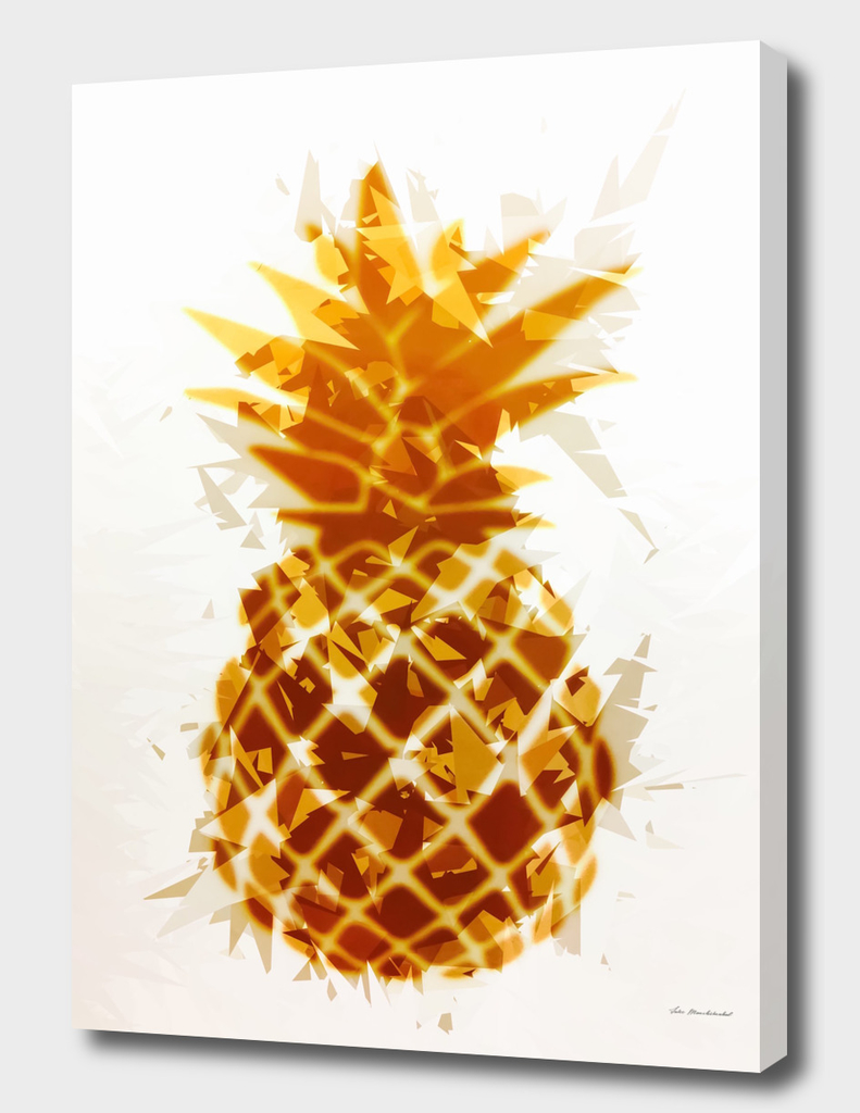 pineapple in brown and yellow