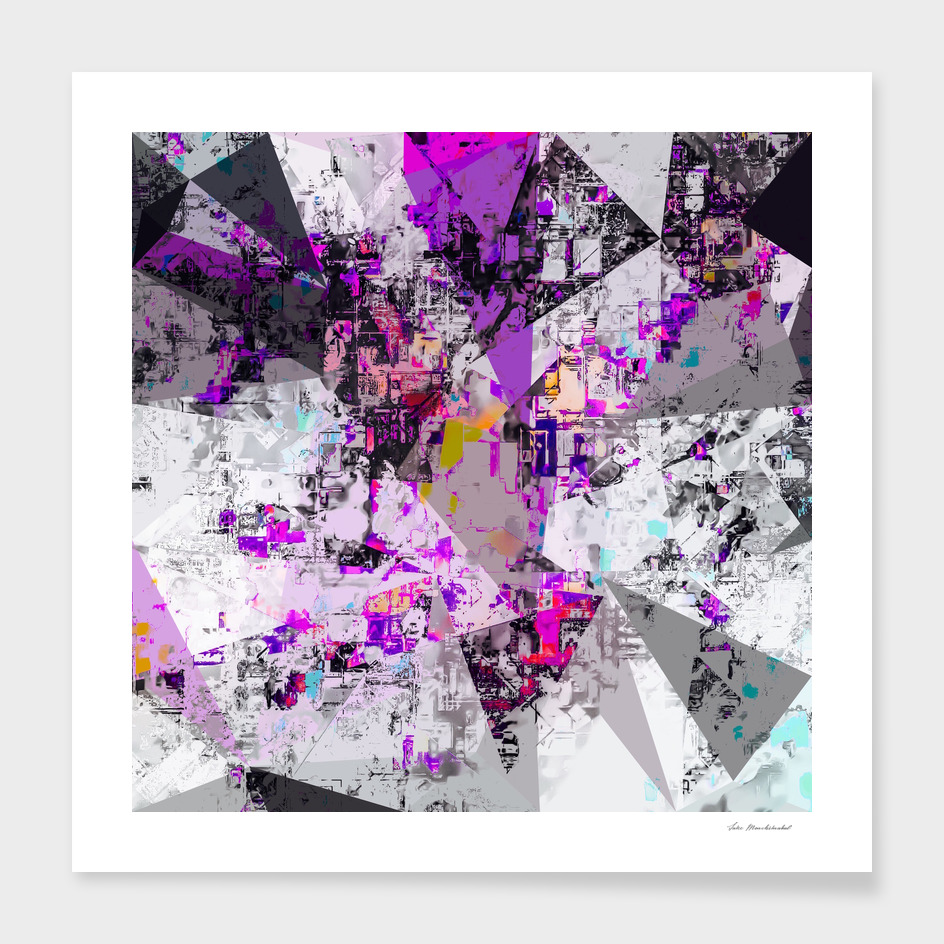 geometric triangle polygon pattern abstract in purple pink
