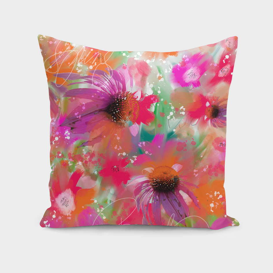Floral Fun in Purple, Pink and Orange Flowers