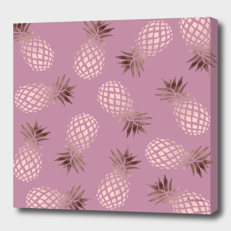 Rose gold pineapple pattern