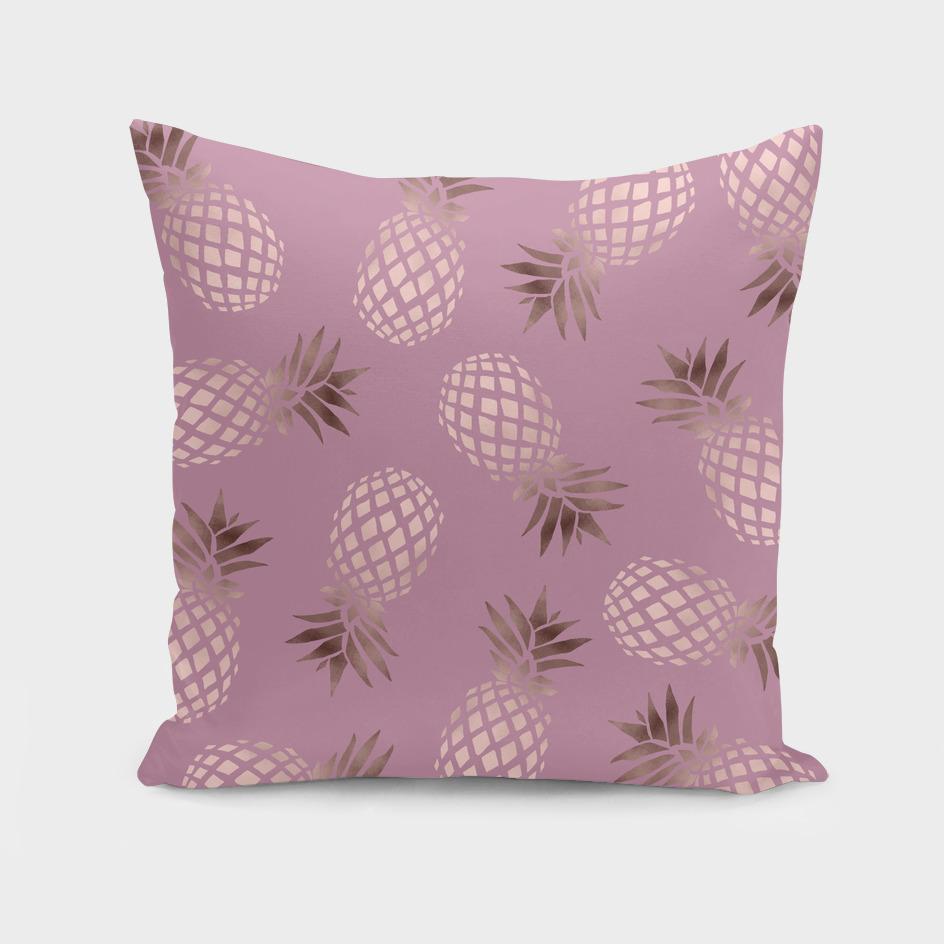 Rose gold pineapple pattern