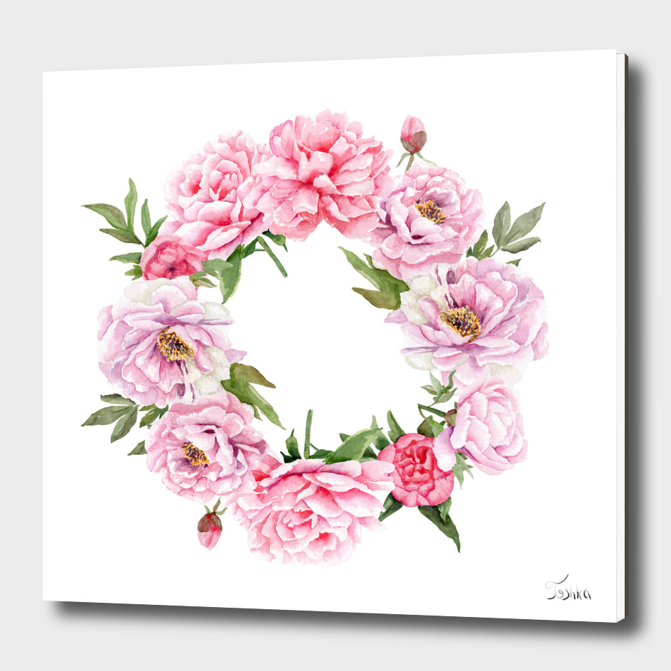 peonies wreath