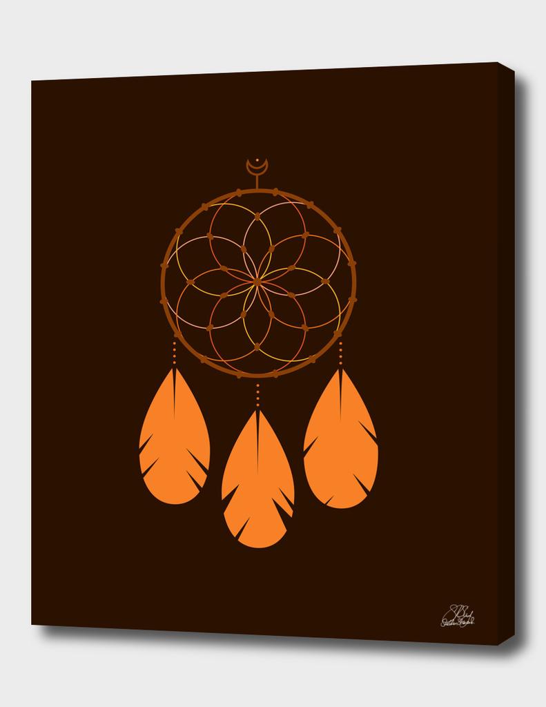 The Orange Dreamcatcher