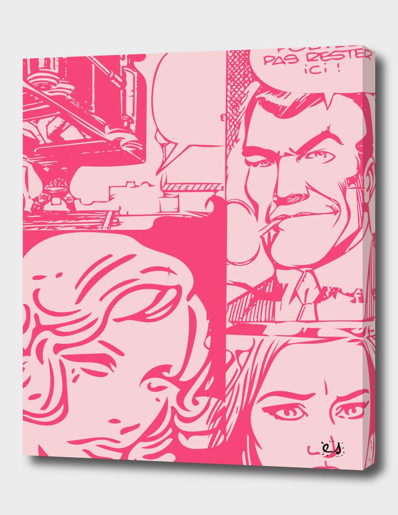Pink Pop Art Comics
