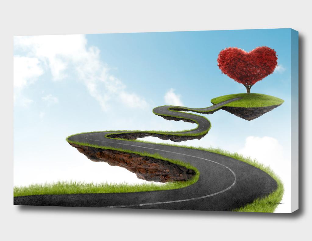 Road to heart tree