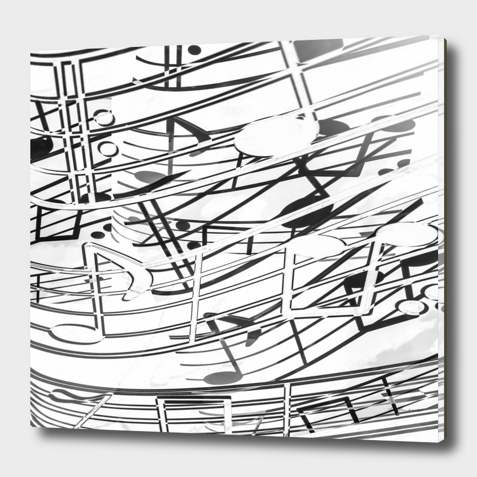music note sign pattern abstract background